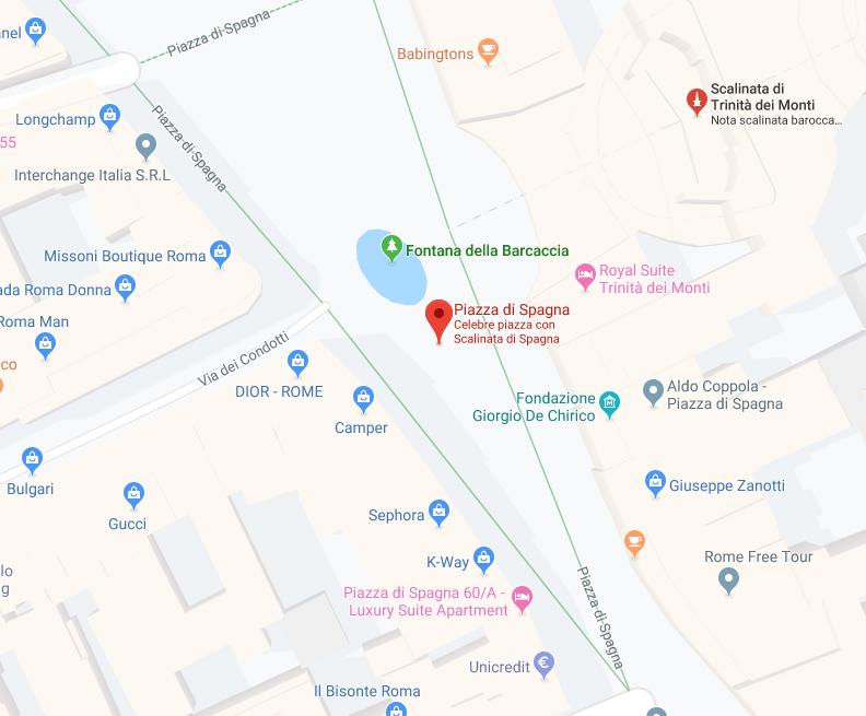 Piazza Di Spagna Cartina.Piazza Di Spagna Disantoroncari
